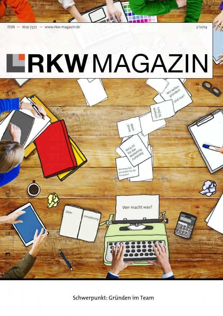 RKW Magazin Cover: Gründen im Team